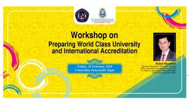 WORKSHOP ON PREPARING WORLD CLASS UNIVERSITY AND INTERNATIONAL ACCREDITATION