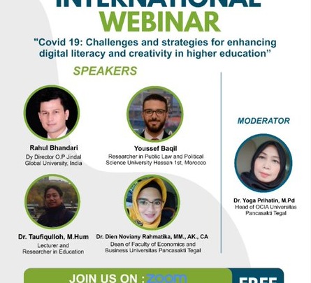 OFFICE OF COOPERATION AND INTERNATIONAL AFFAIRS IN COLLABURATION WITH ECONOMICS AND BUSINESS FACULTY AND EDUCATION FACULTY UNIVERSITAS PANCASAKTI TEGAL PRESENTS : INTERNATIONAL WEBINAR